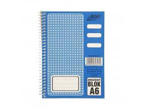 Blok BOBO A6 čistý spir.