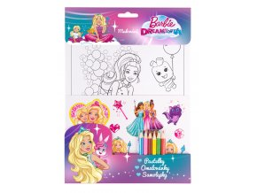 barbie dreamtopia pastelky omalovanky samolepky 3