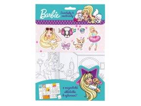 barbie omalovanky magnetky samolepky 3