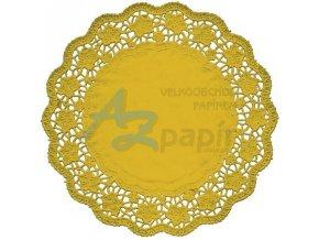 Dekorativní krajky kulaté zlaté 32cm 4ks