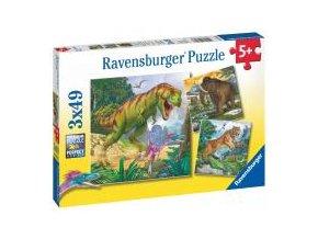 Puzzle Dinosauři a čas 3x49 dílků