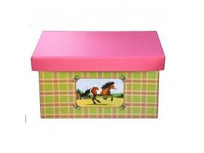 Krabice hranatá 41cm koník