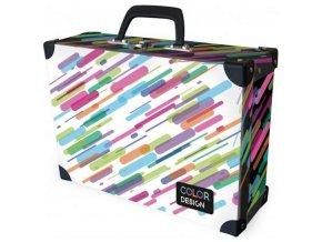 Kufřík lamino hranatý okovaný Stripes