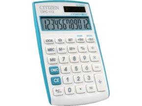 Kalkulačka Citizen s bateriovým a solárním napájením menší