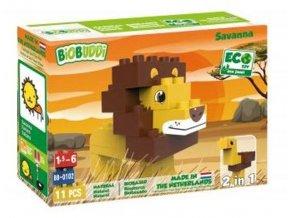 98839679 biobuddi stavebnice wildlife savanna 2v1 lev pstros
