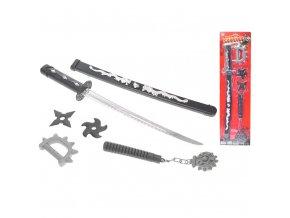 Meč samurajský v pouzdru 59cm s doplňky
