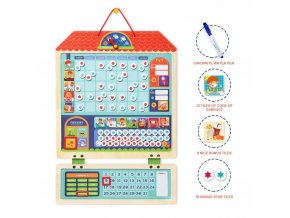 mideer MD2015 Wooden Magnetic Responsibility Chart Behavior 4@2x