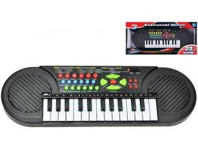 pianko na baterie detske 25 klaves 42x14cm zvuk keyboard v krabici 4577437[1]