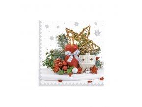 Ubrousky vánoční 3vr. hvězda