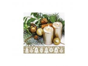 Ubrousek vánoční 3vr. svíčky