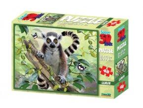 3D puzzle Lemur 48 dílků