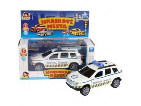 city collection auto osobni suv policie 10cm na baterie svetlo zvuk[1]