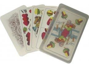 hraci karty dvouhlave marias v plastove krabicce 1514 max