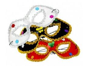 Maska/škraboška s ozdobami, 3 druhy
