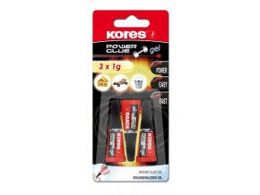 Lepidlo KORES Power Glue Gel - 3x1g - blister