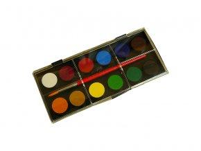 Vodové barvy 12 barev 24 mm