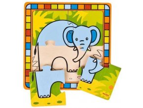 Vkládací puzzle - Slon