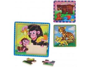 Vkládací puzzle - Medvěd s mládětem