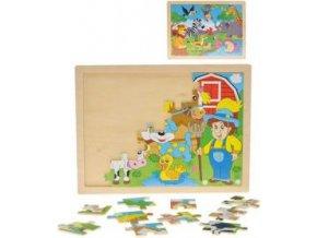 drevo puzzle drevene set 24 dilku farma safari 2 druhy 8229703[1]
