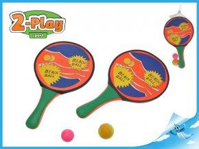 Catch ball/plážové pálky s míčky v síťce
