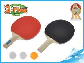 Sada stolní tenis 2-Play pálky dřevěné