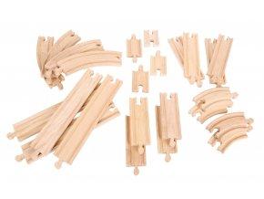 Dřevěné vláčkodráhy - Set 24 dílů