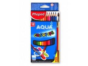 Pastelky Maped Aqua 12 barev + štětec
