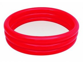 Tříkomorový bazének 102x25 cm - červený