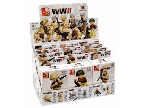 stavebnice sluban figurka vojaci ww2 16 dilku b 0582 original[1]