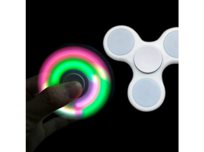 fidget spinner led bílý