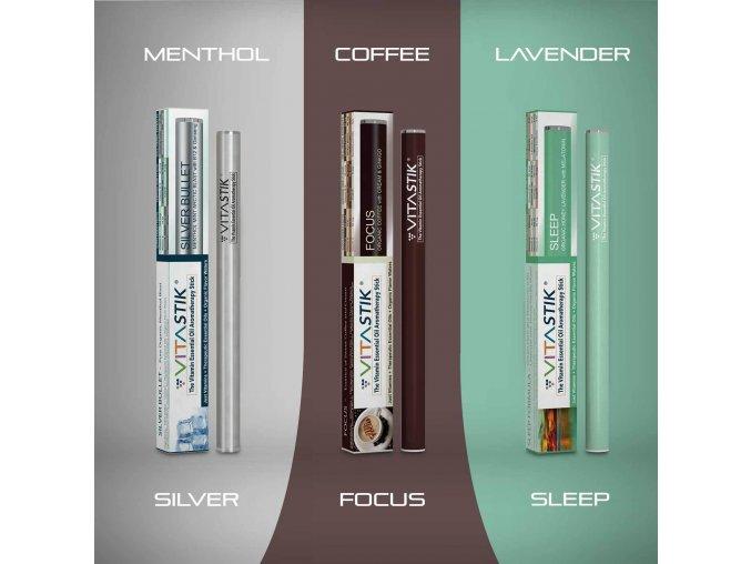Vitamínový vaporizér Vitastik SET MORNING NOON NIGHT TWO 3 kusy