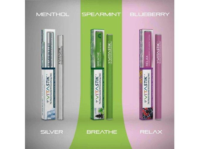 Vitamínový vaporizér Vitastik SET QUIT SMOKING PACK 3 kusy