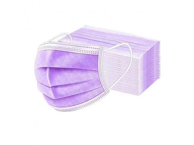 Jednorázová rouška fialová3