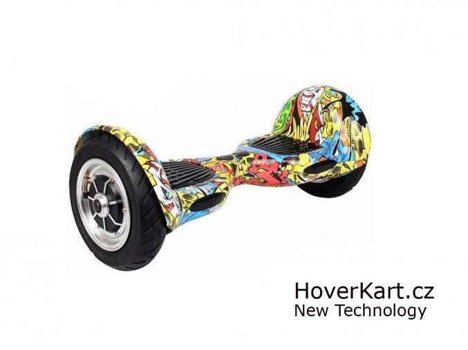 Actionbikes Mini hoverboard Offroad Graffiti + BT reproduktor a ovladač