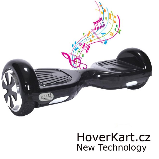 Hoverboard Standard černý s bluetooth reproduktorem