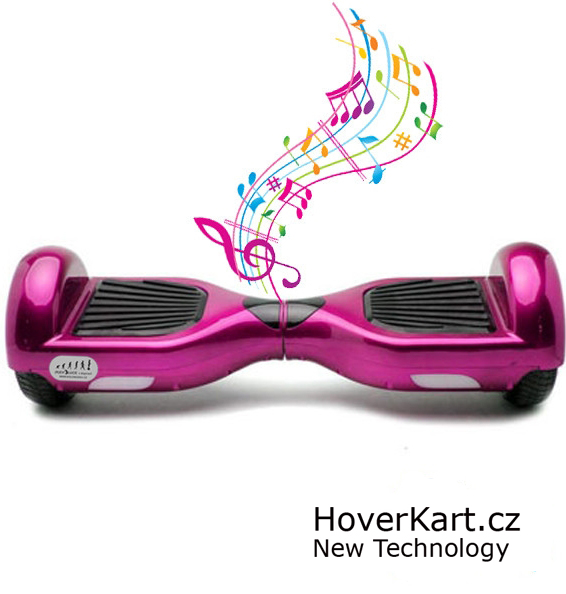 Hoverboard Standard růžová s bluetooth reproduktorem