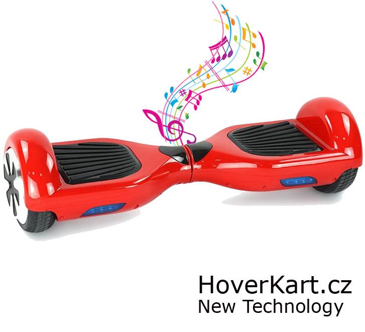 Hoverboard Standard červený s bluetooth reproduktorem
