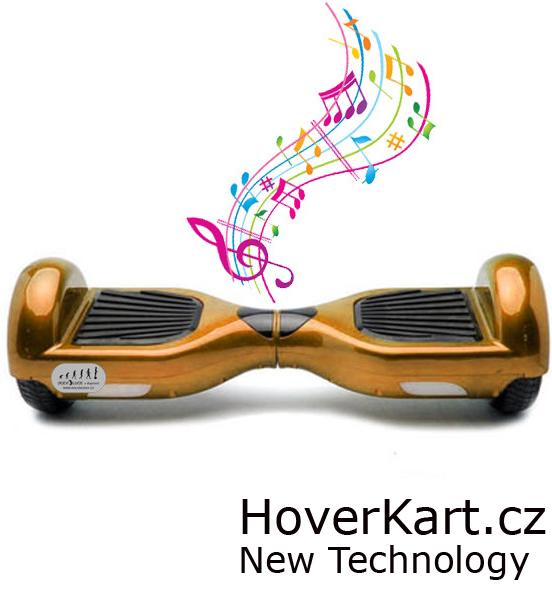 Hoverboard Standard zlatá s bluetooth reproduktorem