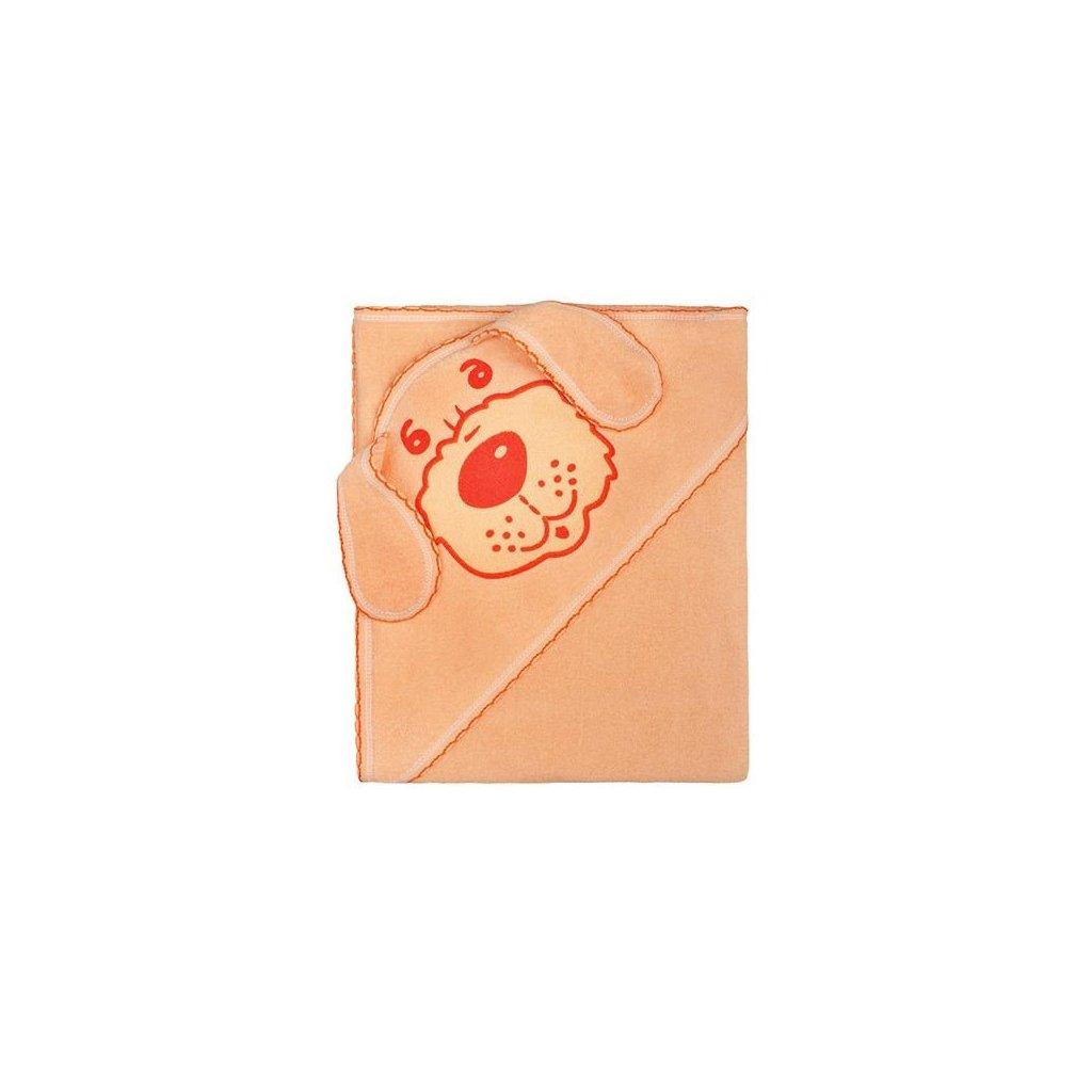 detská osuška 80x80 New Baby oranžový psík