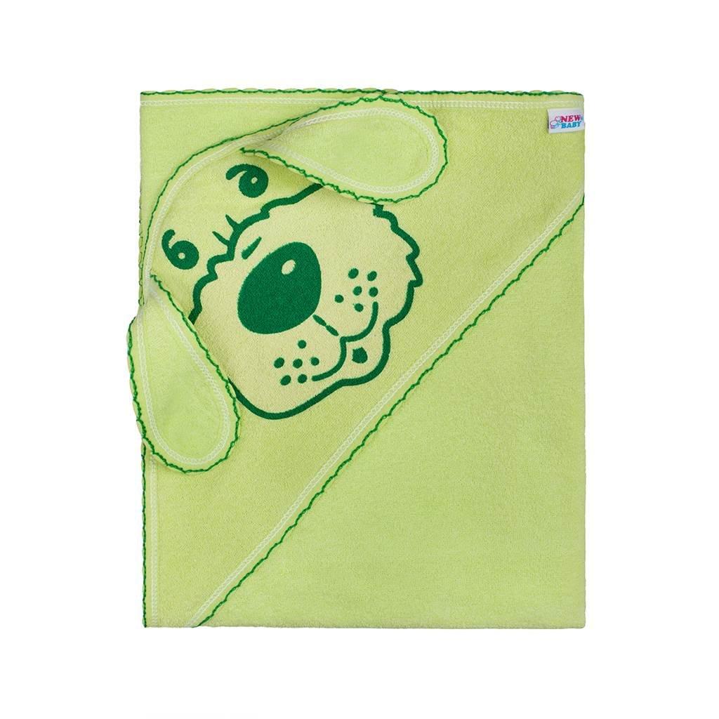 detská osuška 80x80 New Baby zelený psík