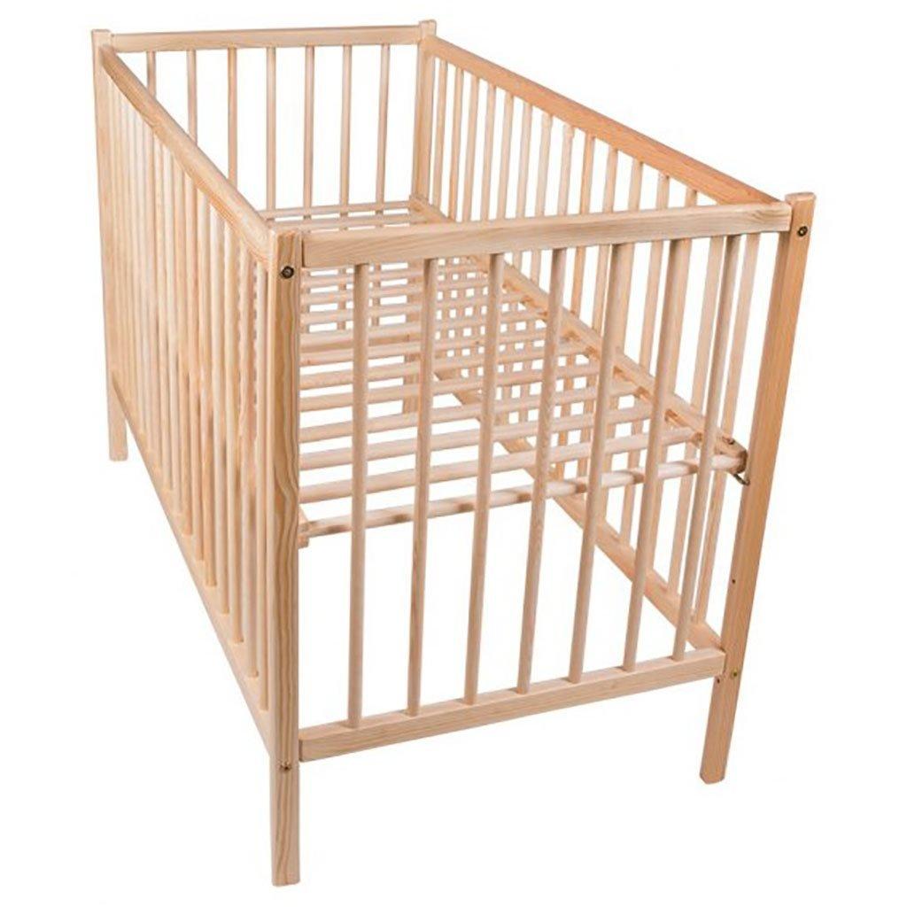 drevená detská postieľka, postieľka pre deti z borovicového dreva, hnedá, detská postieľka s vyberateľnými priečkami,