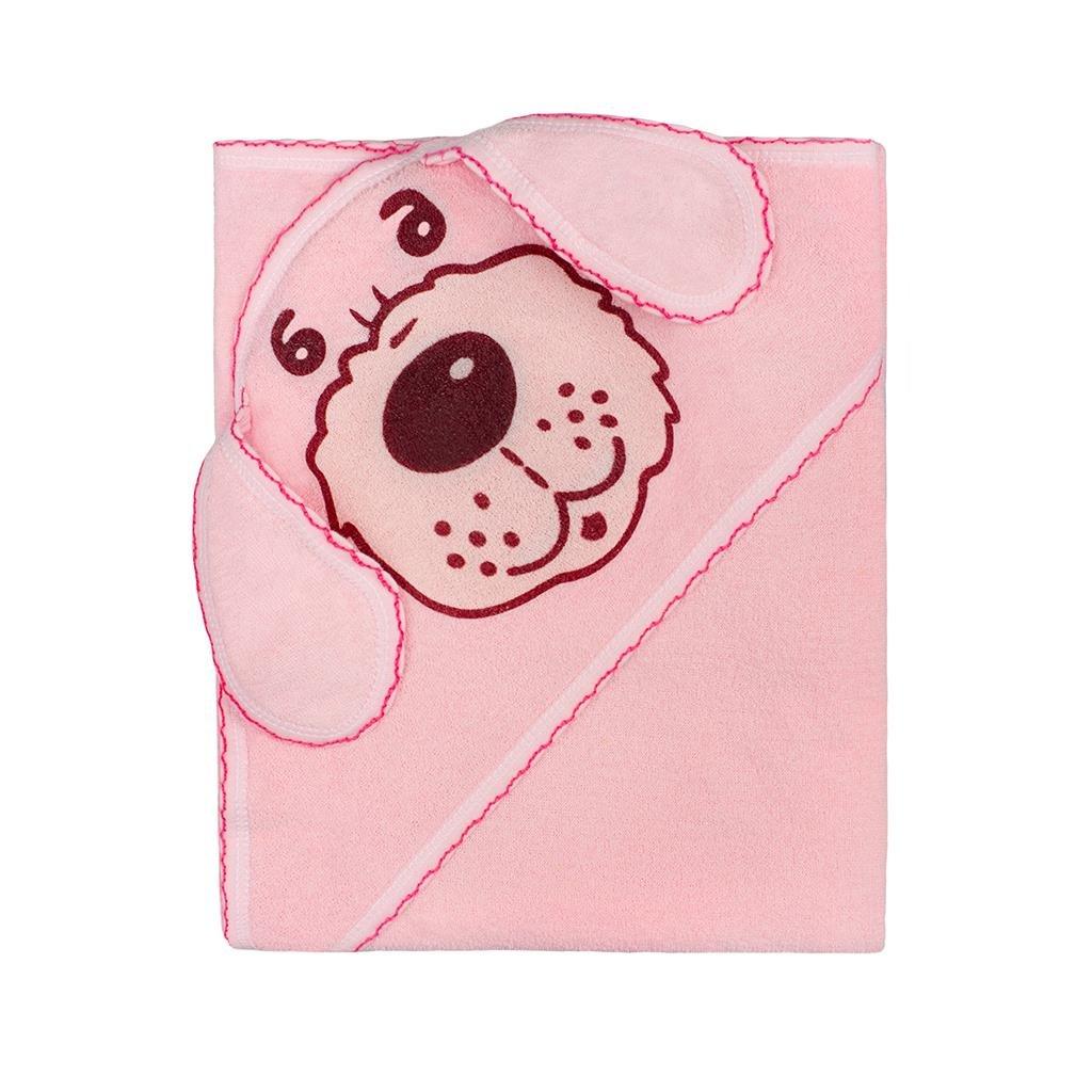 detská osuška 80x80 New Baby ružový psík