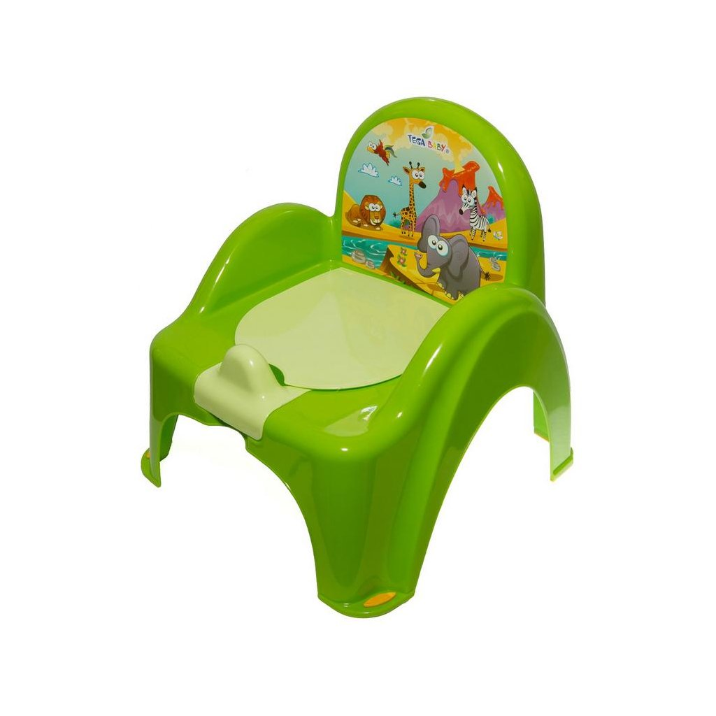 Detský nočník s poklopom zelený safari
