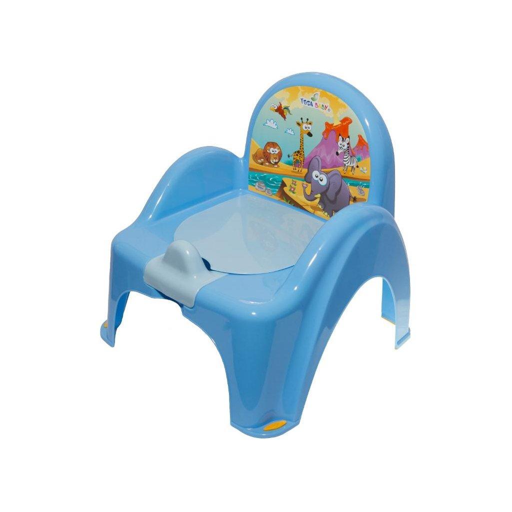 Detský nočník s poklopom modrý safari