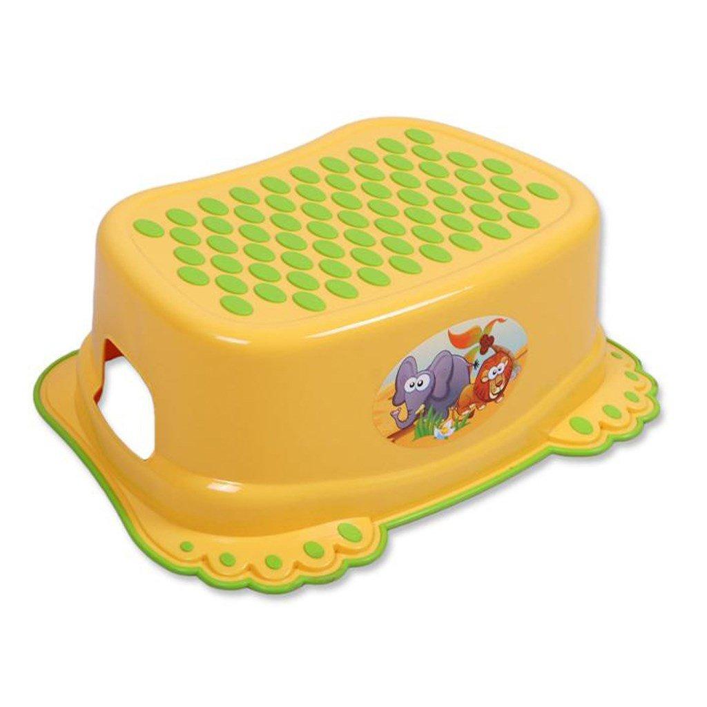 Detské protišmykové stúpadlo do kúpeľne žlte
