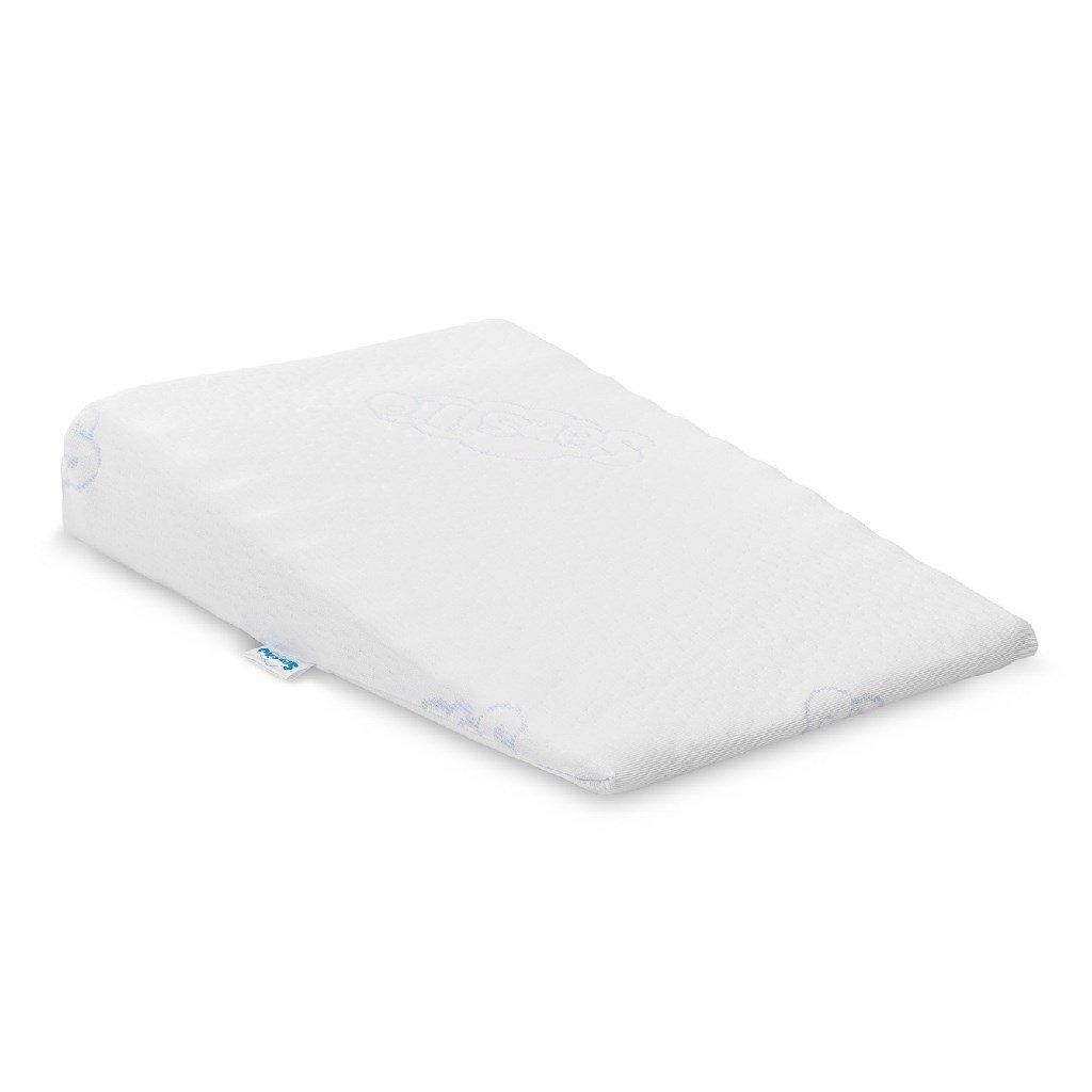Dojčenský vankúš - klin Sensillo biely 30x37 cm do kočíka