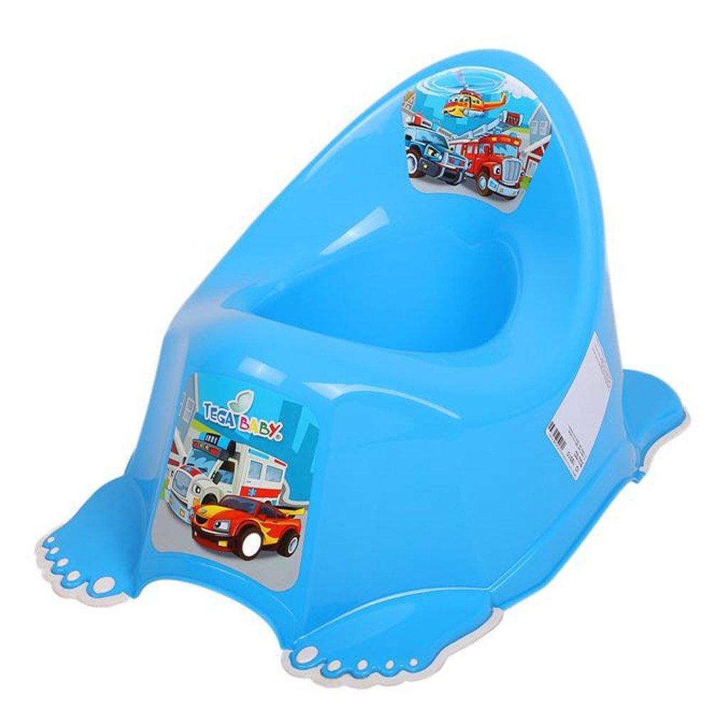 Hrajúci detský nočník protišmykový autíčku modrý