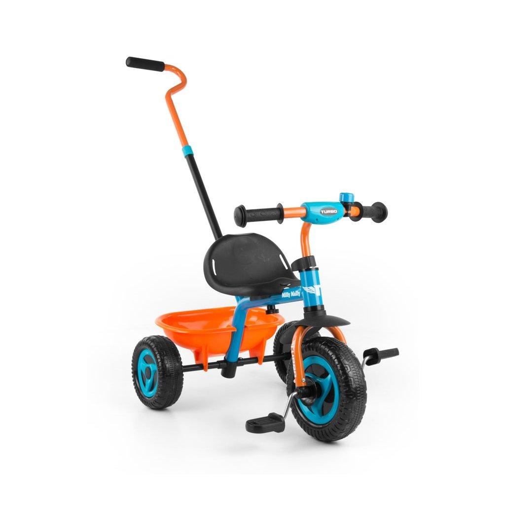 detska trojkolka oranzovo modra