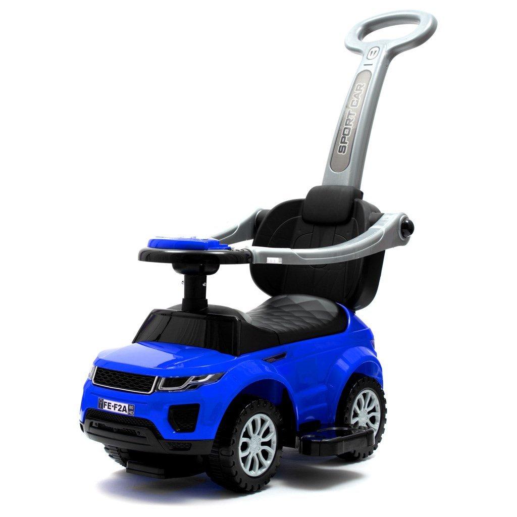 detské odrážadlo s vodiacou tyčou modré