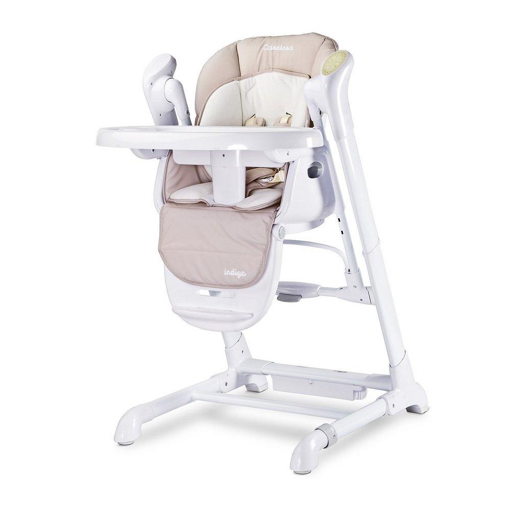 detska jedálenska stolička, detska hojdačka bežova
